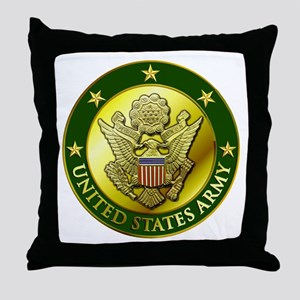 Army Green Logo Throw Pillow