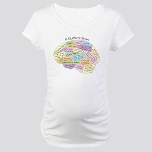 Quilter's Brain Maternity T-Shirt