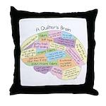 Quilter's Brain Throw Pillow