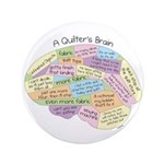 """Quilter's Brain 3.5"""" Button (100 pack)"""