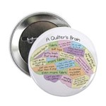 """Quilter's Brain 2.25"""" Button (10 pack)"""