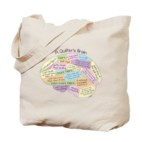 Quilter's Brain Tote Bag