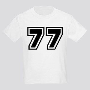 Varsity Uniform Number 77 Kids T-Shirt