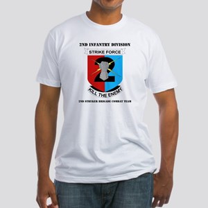 DUI - 2nd Stryker BCT with Text Fitted T-Shirt