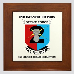 DUI - 2nd Stryker BCT with Text Framed Tile