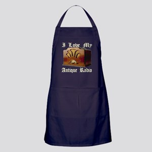 I Love My Antique Radio Apron (dark)