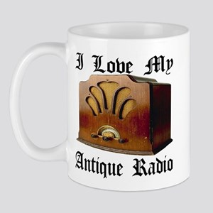 I Love My Antique Radio Mug