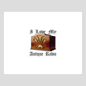 I Love My Antique Radio Small Poster