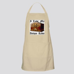 I Love My Antique Radio Apron