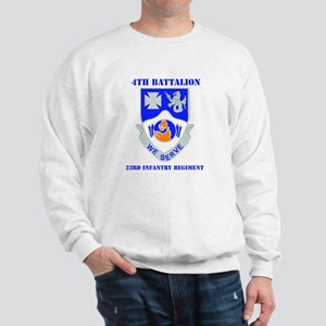 DUI - 4th Bn - 23rd Infantry Regt with Text Sweats