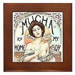 Mucha is my Homeboy Framed Tile