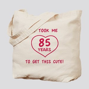 Funny 85th Birthday (Heart) Tote Bag