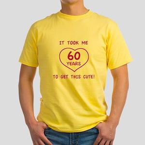 Funny 60th Birthday (Heart) Yellow T-Shirt
