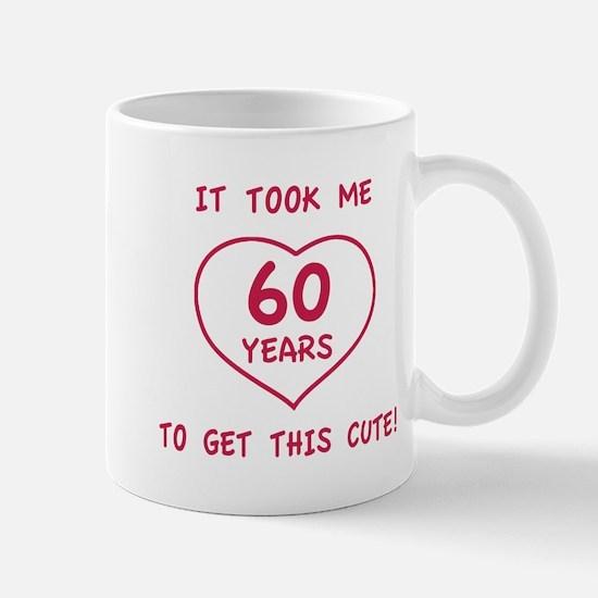 Funny 60th Birthday (Heart) Mug