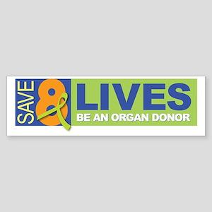 Save 8 Lives Bumper Sticker