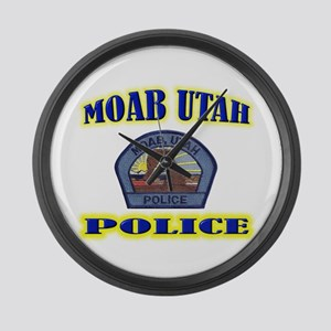 Moab Police Large Wall Clock