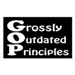 GOP: Grossly Outdated Principles bumper sticker