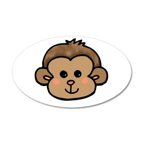 Monkey Face 38.5 x 24.5 Oval Wall Peel