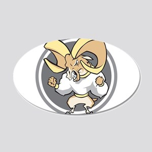 Angry Ram 22x14 Oval Wall Peel