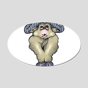 Mountain Goat 22x14 Oval Wall Peel