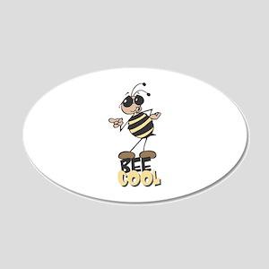 Be Cool Bee 22x14 Oval Wall Peel