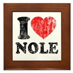 I Love Nole! Framed Tile
