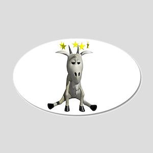 Dizzy Little Mountain Goat 22x14 Oval Wall Peel