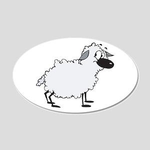 Funny Little Ewe (Sheep) 22x14 Oval Wall Peel