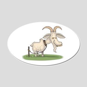 Goofy Billy Goat 22x14 Oval Wall Peel