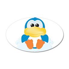 Blue Ducky Duck on a Cloud 22x14 Oval Wall Peel