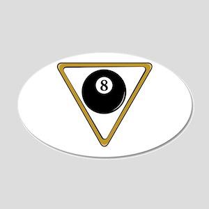 Eight Ball and Rack 22x14 Oval Wall Peel