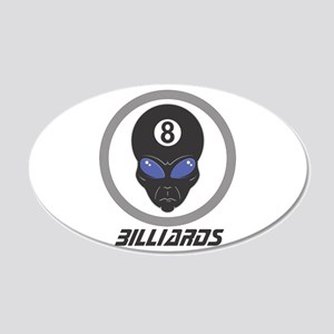 Billiards (Pool) Alien Head D 22x14 Oval Wall Peel