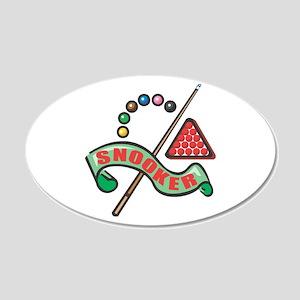Snooker Pool Design 22x14 Oval Wall Peel