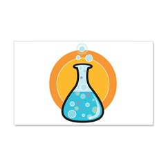 Science Beaker 22x14 Wall Peel