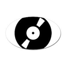 Retro Classic Vinyl Record 22x14 Oval Wall Peel