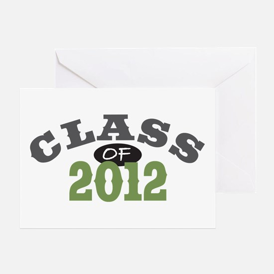 Class Of 2012 Green Greeting Card