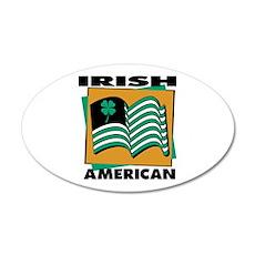 Irish American 22x14 Oval Wall Peel