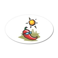 Chillin' Chili Pepper 22x14 Oval Wall Peel
