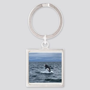 Leaping Orca Whale Keychains