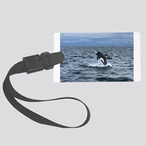 Leaping Orca Whale Luggage Tag