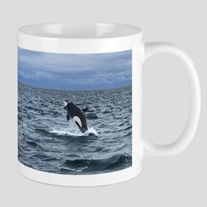 Leaping Orca Whale Mugs