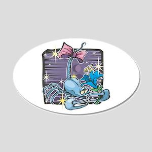 Blue Scorpio Scorpion Design 22x14 Oval Wall Peel