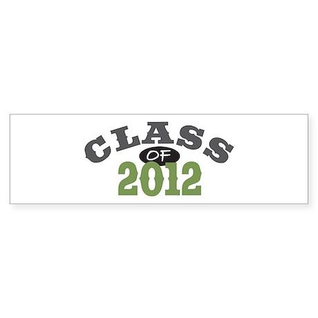 Class Of 2012 Green Sticker (Bumper)