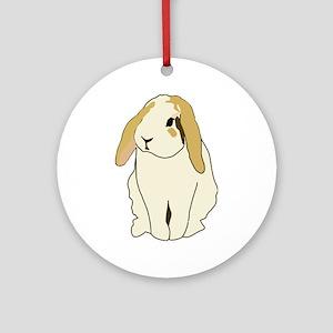 Lop Rabbit Round Ornament