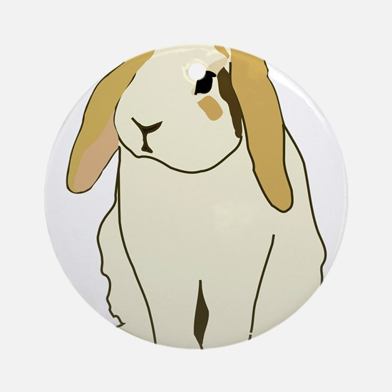 Lop Rabbit Round Ornament