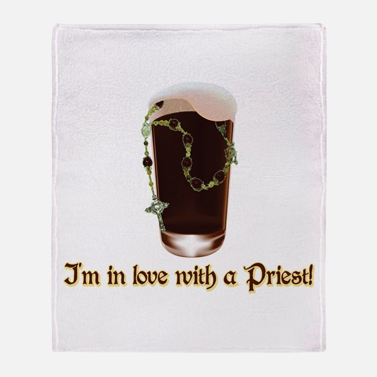 I'm in love with a Priest Throw Blanket