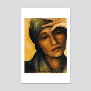 Woman Thinking Mini Poster Print