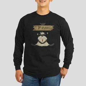 Sheep Long Sleeve Dark T-Shirt