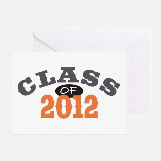 Class Of 2012 Orange Greeting Card