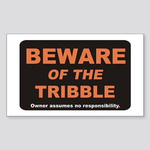 Beware / Tribble Sticker (Rectangle)